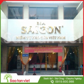 Chữ Inox Vàng Làm Hộp Nổi (Bia Sài Gòn)