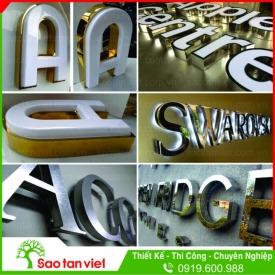 chữ inox - chữ nổi 3D - chữ mica - chữ nổi có đèn