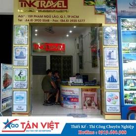 Hộp Đèn Aluminium chữ Mica (TNK Travel)