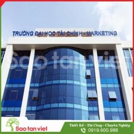 Rooftop sign Aluminium - Led điểm phát sáng (Trường ĐH Marketing)