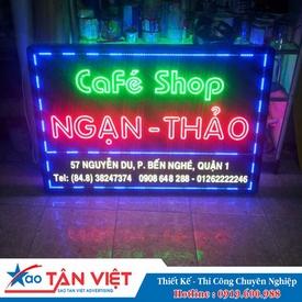 Bảng Vẫy 2 Đèn Led Đơn (Coffee Shop)