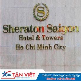 Chữ Inox Vàng Làm Hộp Nổi (Sheraton Hotel)