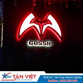 Logo Inox Vàng - Neon Sign Dạ Sáng (Gossip)